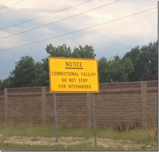 correctional facility sign