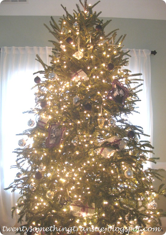 Purple Christmas Tree Decorations and Photo Ornament 009