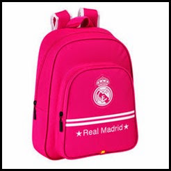 mochila real madrid rosa