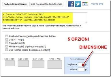 incorporare video youtube