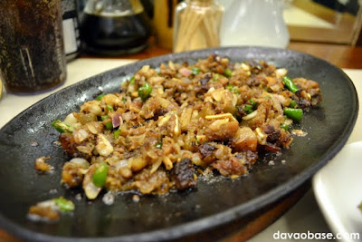 Closer shot of Sizzling Sisig at Hukad sa Golden Cowrie in Abreeza Mall