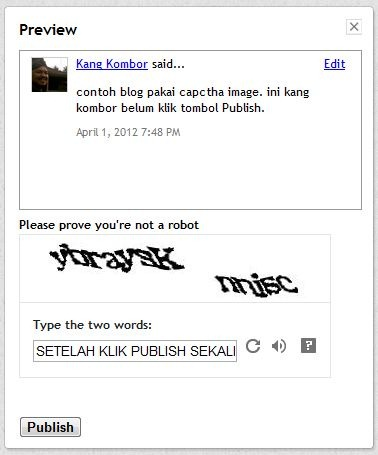 komentar blogspot dengan captcha image -