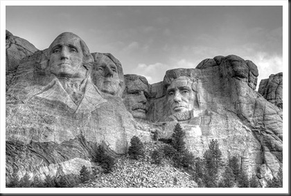 2011Jul31_Mount_Rushmore_BW_tonemapped