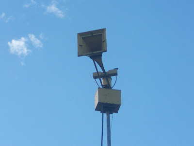 The tornado siren on Washington's S. Marion Avenue