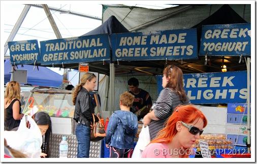 GREEK FOOD STALL, ROCKLEA SUNDAY DISCOVERY MARKET© BUSOG! SARAP! 2012