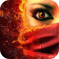 Girl with fiery eyes LWP