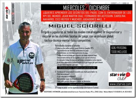 Clinic con Miguel Sciorilli y Juanjo Gutiérrez en el Club Star Vie Collado Mediano, 21 diciembre.
