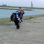 a serious wheelie by andries in IJmuiden, Noord Holland, Netherlands