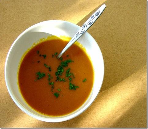 Squash and 'Nduja Soup