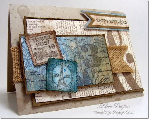 LeAnne Pugliese WeeInklings Postage Due Shabby Birthday