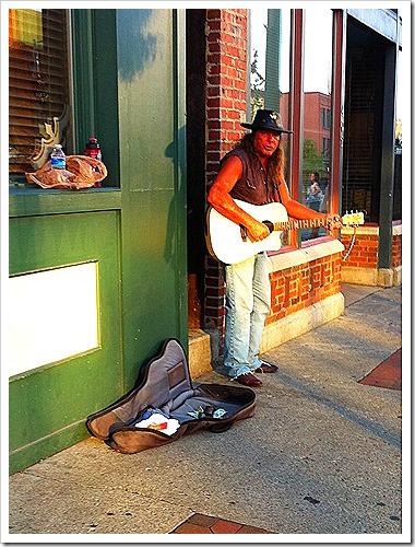Public domain street performer