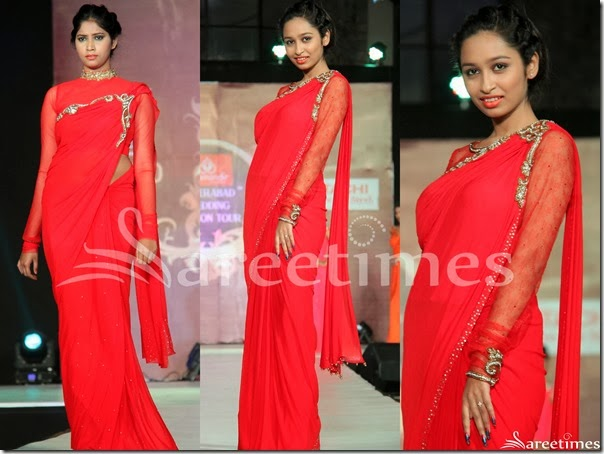 Red_Embroidery_Georgette_Saree