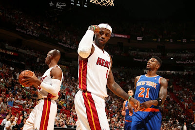 lebron james nba 140406 mia vs nyk 02 King James Debuts Power Couple Soldier 7 for NBA Green Week