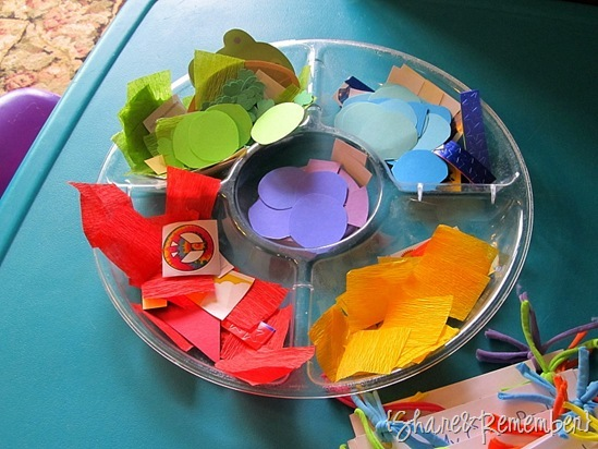 Rainbow Color Books collage materials