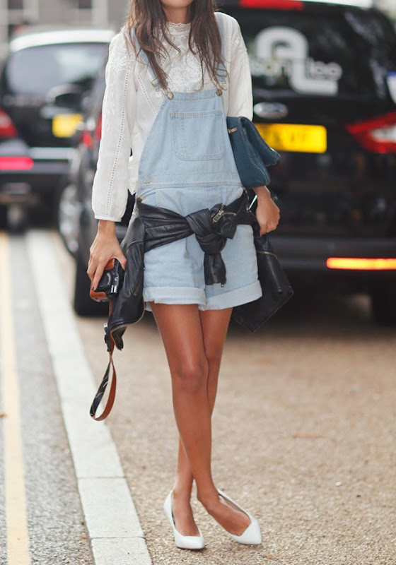 la-modella-mafia-model-off-duty-Spring-2013-street-style-blouse-from-Zara-dungarees-from-American-Apparel-and-clutch-from-Alexander-Wang-3