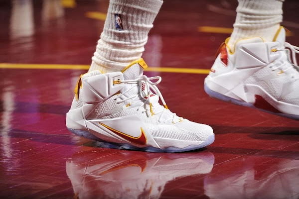 Closer Look at LBJ8217s Latest Cleveland Cavaliers LeBron 12 Home PE