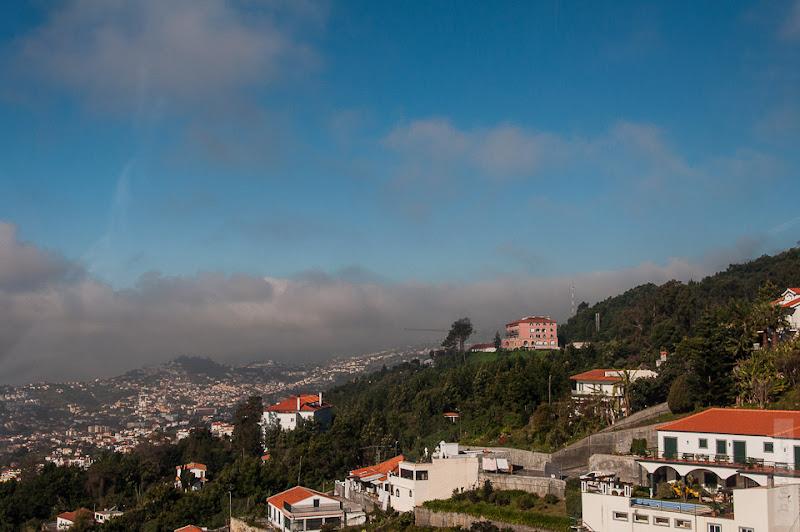 80. Февраль. Мадейра. Канатная дорога. Фуншал. А вот мы и выше облаков.