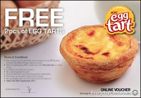 KFC-Free-Egg-Tarts-Voucher-2011-EverydayOnSales-Warehouse-Sale-Promotion-Deal-Discount