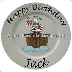 Happy Birthday personalized Pirate Plate