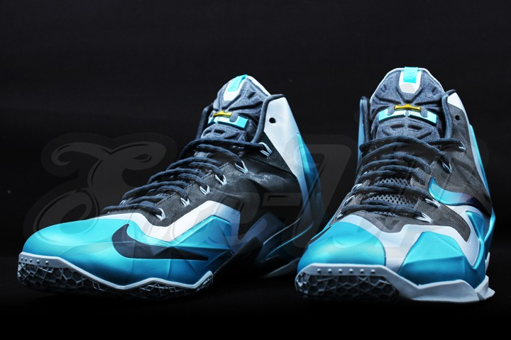 Detailed Look at the 8220Gamma Blue8221 Nike LeBron XI 616175401 ...