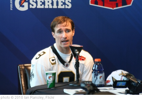 'Drew Brees, Media Day' photo (c) 2010, Ian Ransley - license: http://creativecommons.org/licenses/by/2.0/