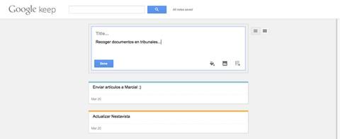 Google Keep PC