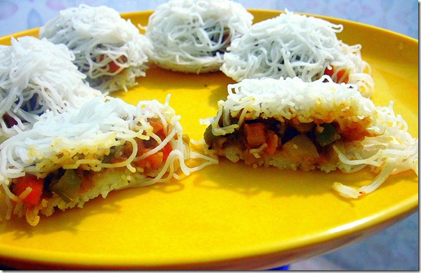 Stuffed idiyaapam