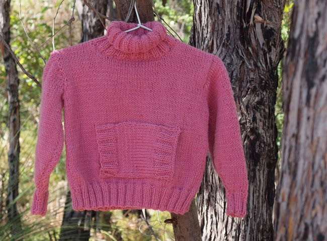 virtù - pink chunky rolled neck sweater