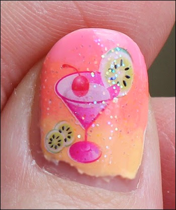 Tropical Island Cocktail Nail Art Glitter 3