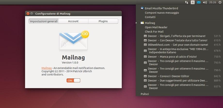 Mailnag in Ubuntu