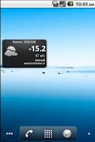 Screenshot of KomiMeteo Widget