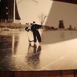 dutch way of ice skating in Zaandam, Noord Holland, Netherlands