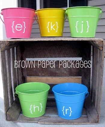 DIY vinyl pails