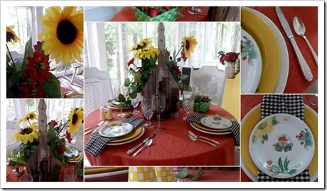 sunflower tablescape