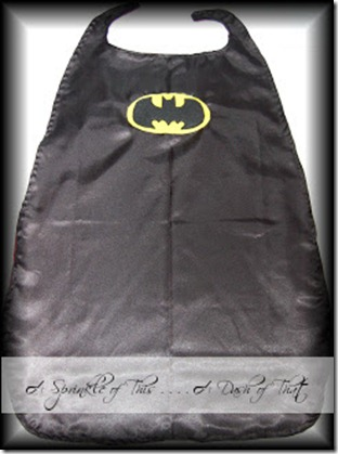 Batman Cape {A Sprinkle of This . . . . A Dash of That}