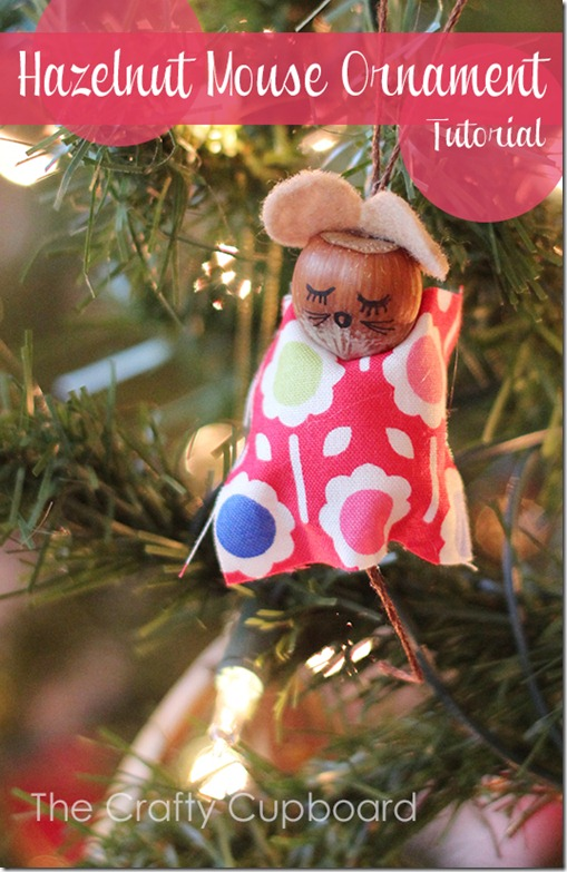 Hazelnut Mouse Ornament Tutorial by the Crafty Cupboard