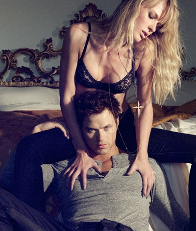 Kellan Lutz + Anne Vyalitsyna by Yu Tsai for Dylan George F/W 2011 (detail)