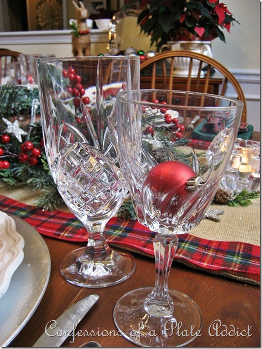 Confessions of a plate addict my starry burlap and plaid christmas tablescape - Interesting tables capes for christmas providing cozy gathering space ...