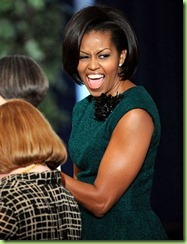 michelle obama in a green dress
