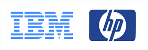 IBM and HP logos