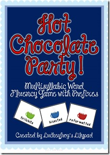 Hot Chocolate Party Multisyllabic Word Game