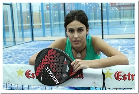 Sara Marcos presentada como jugadora Kuumax Pádel 2014.