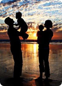 Familia de 4 personas silueta