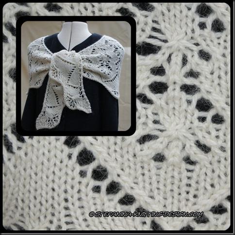 Kipepeo shawlette montage