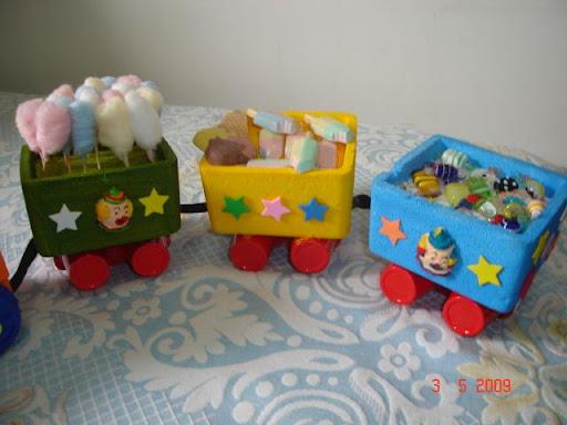 Trem Para Enfeite De Mesa Festa Infantil   Tema Patati Patat