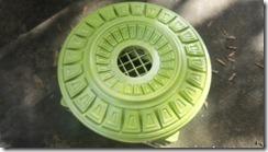 green metallic medallion 1