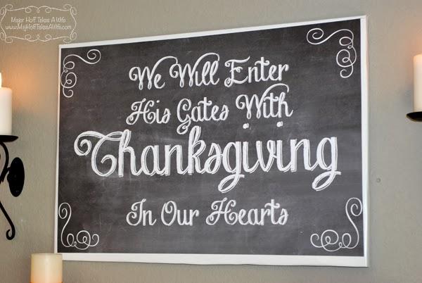 Thanksgiving wall art printable