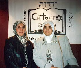Latifa Boumediane y Cherifa Ben Hassine en la Cátedra de las 3 Religiones de la Universitat de Valencia.