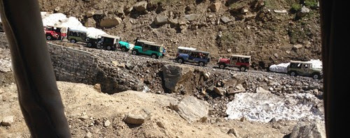 jeep ride to Lake Saiful Muluk