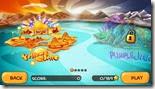 صورة للجزر المختلفة التى يمكنك اللعب خلالها فى لعبة جزيرة الوحوش لويندوز 8